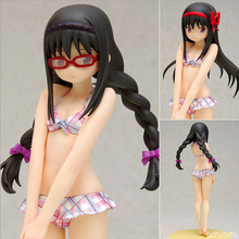 NEW hot 16cm Puella Magi Madoka Magica Akemi Homura swimsuit action figure toys collection doll toy