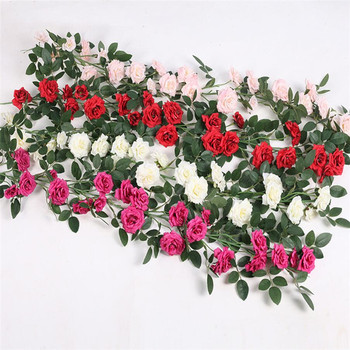 10 piece rose vine 100cm/ artificial ivory/red/fuchsia/pink rose flower vines wall mounted flowers