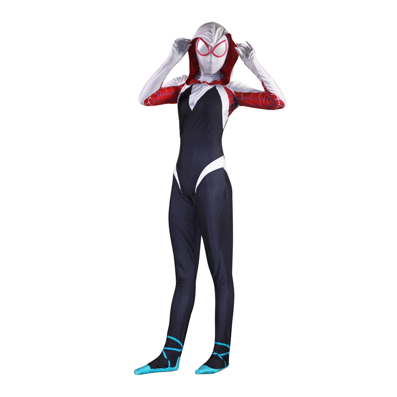 Spider-Man: Into the Spider-Verse Women Venom Cloak Spider-Man For Halloween Party Cosplay Costume