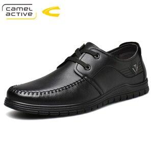 Image 1 - Camel Active 2019 printemps/automne nouvelle marque de luxe en cuir véritable hommes chaussures décontractées en cuir de vache hommes Banquet fête mocassins formels