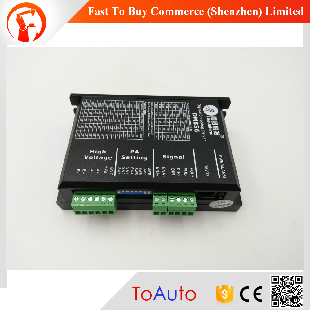цена на NEW CNC Stepper Drive 2ph 2.1~5.6A 18~80VDC Matching Nema23 34 Motor DM856 Leadshine