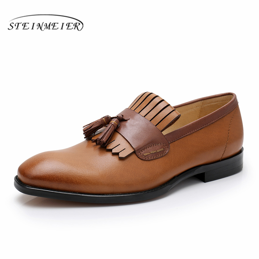 mens formal shoes genuine leather oxford shoes for men black 2019 dress shoes wedding shoes slip on leather brogues