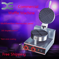 Can Be Timed Waffle Machine 1000W Commercial Single Head Waffle Non Stick Coating Waffle Cake Machine