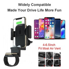 Wireless Charger For iPhone Xs Max XR X Galaxy S10 / S10 + / S9 Car Mount Wirless Quick Charging Air Ventilation Car Mount Stand(China)