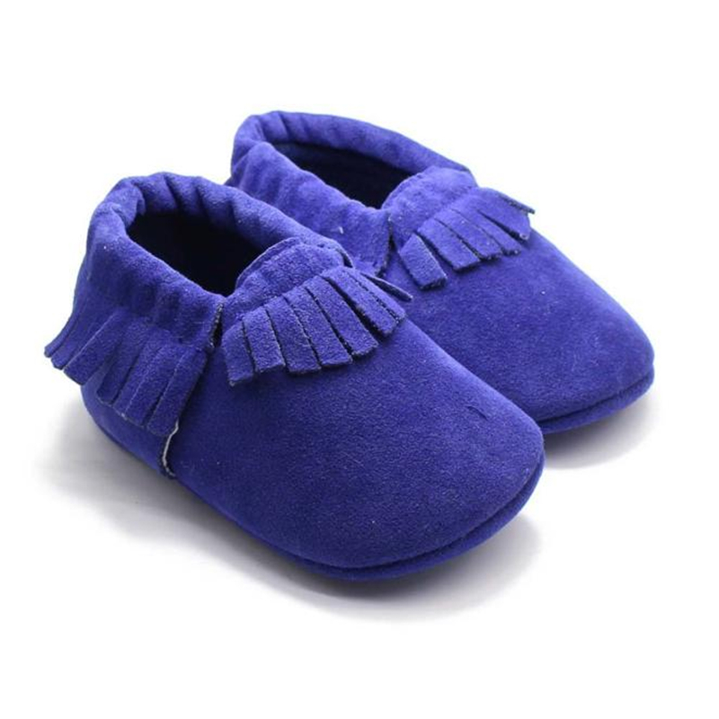 PU Suede Leather Newborn Baby Boy Girl Baby Moccasins Soft Moccs Shoes Bebe Fringe Soft Soled Non-slip Footwear Crib Shoes17Dec5