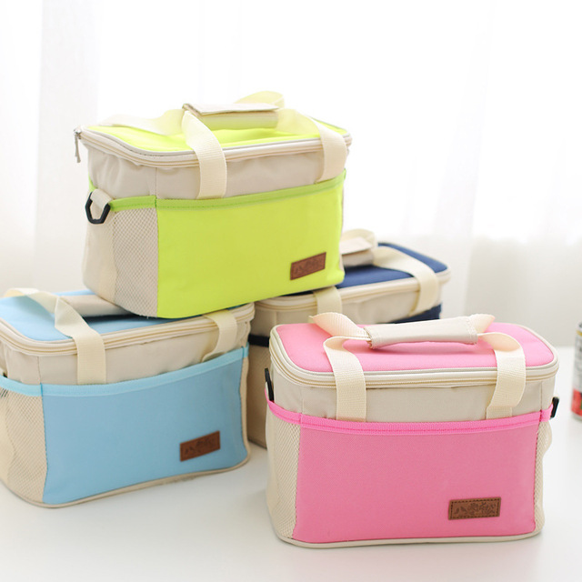 Lunchbox picnic Lunch Box Cooler Expansível Portátil Saco de Comida