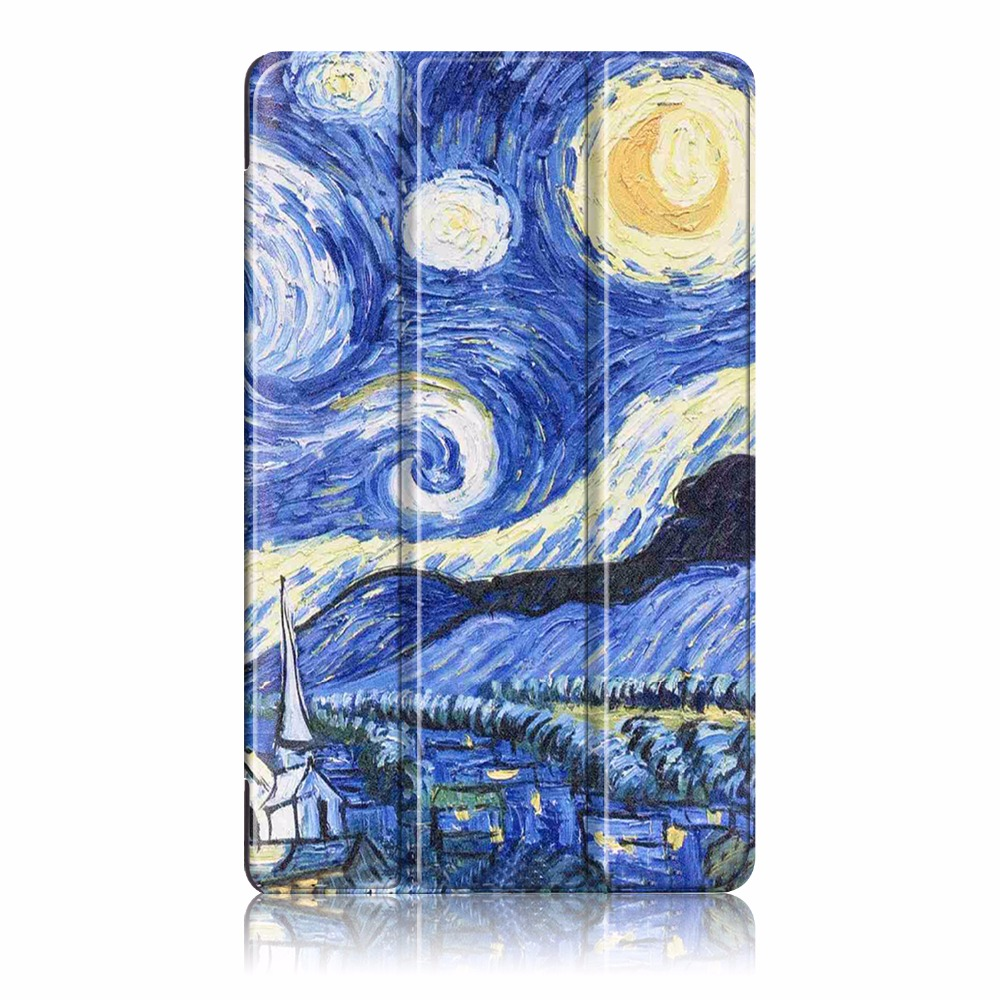 Fashion PU leather Case For Samsung Galaxy TAB A 7.0 T280/T285 7 inch three Folding Double-sided painting Cover Tablet e-book 7