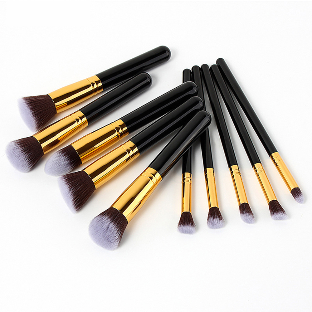 10Pcs Makeup Brushes Tools Set Bulsh Powder Foundation Eyebrow Eye Brushes For Makeup Kit Professional Cosmetic Make Up Beauty makeup cosmetic soft foundation powder brush beauty marble make up tools brushes set 10pcs