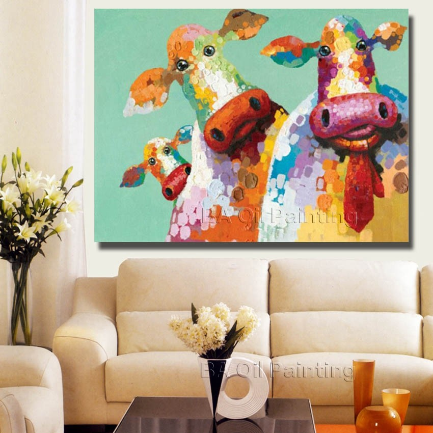 Online Shop Hand Painted Oil Painting On Canvas Abstract Elephant Paintings  Modern Decoration Wall Art Living Room Decor Picture No Framed | Aliexpress  ... Part 59