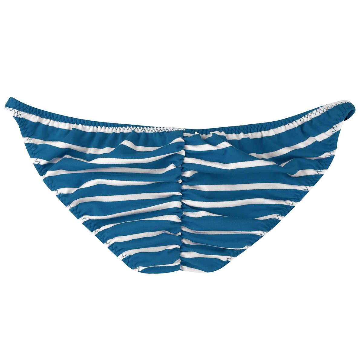 a4dae3b7477dd9 ... Men's Low Rise Briefs Sexy Men Underwear Lingerie Sissy Panties Stripes  Pattern Bulge Pouch Stretchy Men ...
