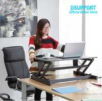 2017New Ergonomic EasyUp with Handle Sit Stand Desk Riser Foldable Laptop Desk Stand With Keyboard Tray Notebook/Monitor Holder