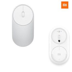 Image 1 - Xiaomi Mini portátil con WiFi, 2,4G, Bluetooth, doble inalámbrico, aleación de aluminio, ABS, 1200 DPI, compatible con láser, Windows 8, 10 PC