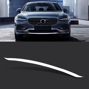 for Volvo S90 2017-2019 Car-Stying Accessories Stainless Front Bumper Skid Protector Guard Protector Plate Cover Trim 1PCS