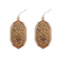 2017 New Pave Rhinestones AB Crystals Oval Shape Dangle Drop Earrings for Women Jewelry Classic KS Geometric Crystals Earrings