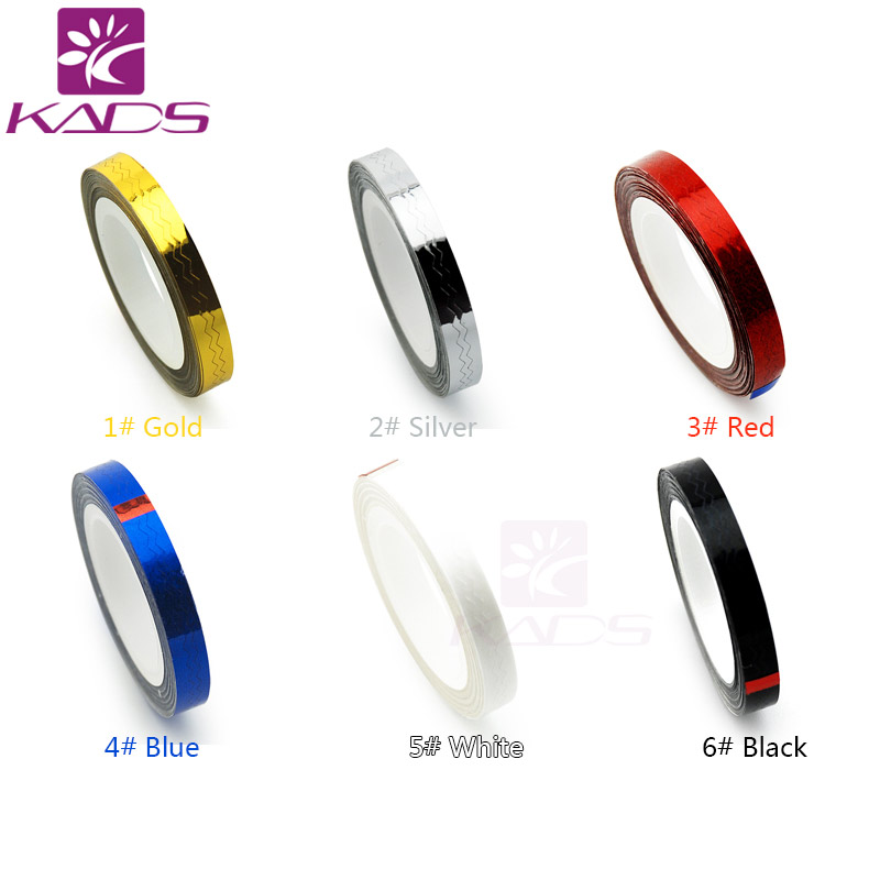 KADS New Arrival 1pc 6 Colors For Choosing Waves Striping Tape Line DIY Nail 3D Tips Decoration Stickers For Nail Beauty fast shiping for choosing