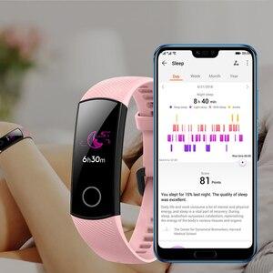 """Image 3 - Oryginalny Huawei Honor Band 4 5 inteligentne nadgarstek Amoled kolor 0.95 """"ekran dotykowy Swim postawy wykrywania tętna snu przystawki"""