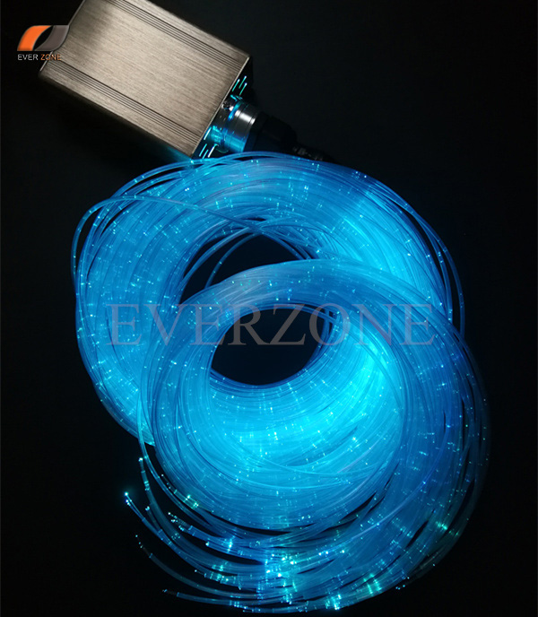 120pcs 1*075mm 2m Sensory Sparkle Optic Fiber Light Kit with 16W LED Light Source RF Remote Controller