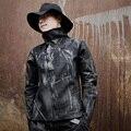 2016 Общество С Ограниченной Настоящее Полный Стандартный Молния Регулярный Стенд Хлопка мужская куртка Tide Бренд, Чтобы Сделать Старый Самосовершенствование Покрытие