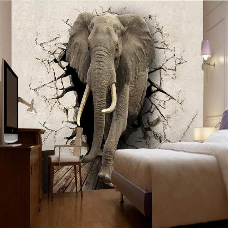 Aliexpress Com High Quality Flash Cloth Wallpaper Animal Living Room Tv Backdrop Children 39 S Rhino