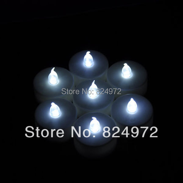 wholsale 96pcslot led smokeless flameless flickering battery candles happy birthday led candle tea light