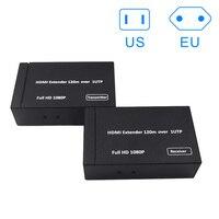 New Hot HDMI Extender 120M Over 1 UTP/STP CAT5e/6 Networks Support 1080P HDMI Splitter Transmitter Receiver