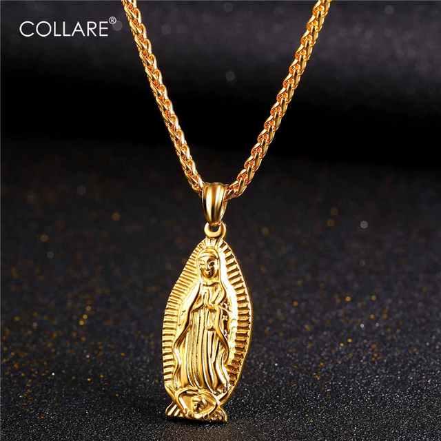 petite mary alannahsgene pinterest religious on virgin gold decorations best necklace medallion mother images necklaces fill