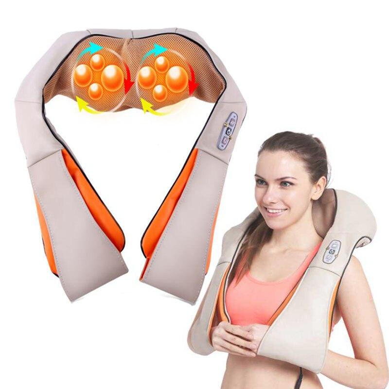 Électrique Infrarouge Chauffage shiatsu masseur pour le Cou massage du dos dispositif 4D électrique retour épaule taille châle ceinture massages rouleau