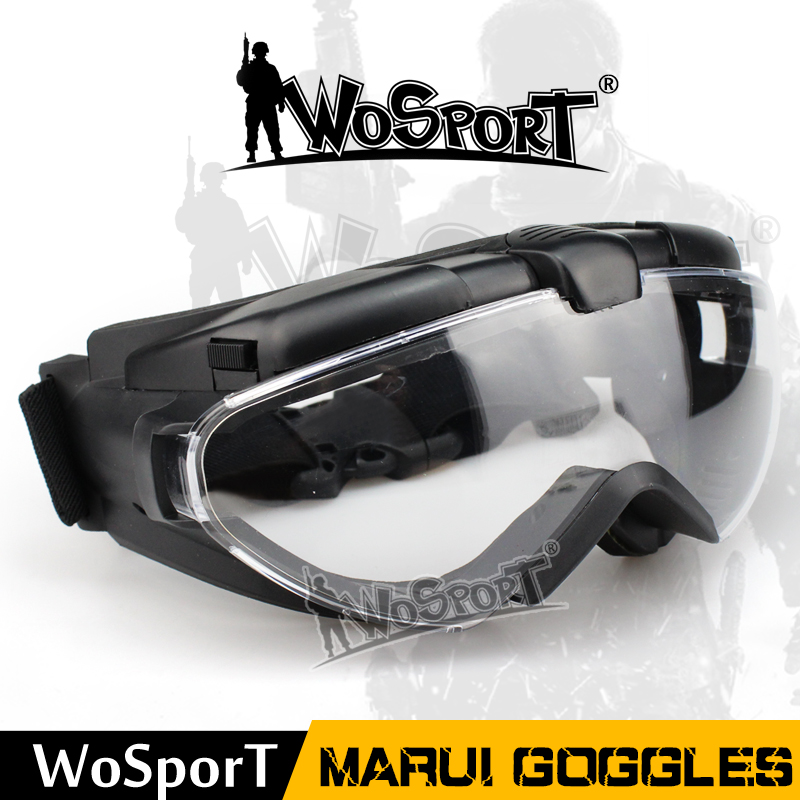 WoSporT Tactical Military Marui Goggles Anti FOG Resistance UV Protection PC Lens Glasses For Outdoor Airsoft Paintball Hunting