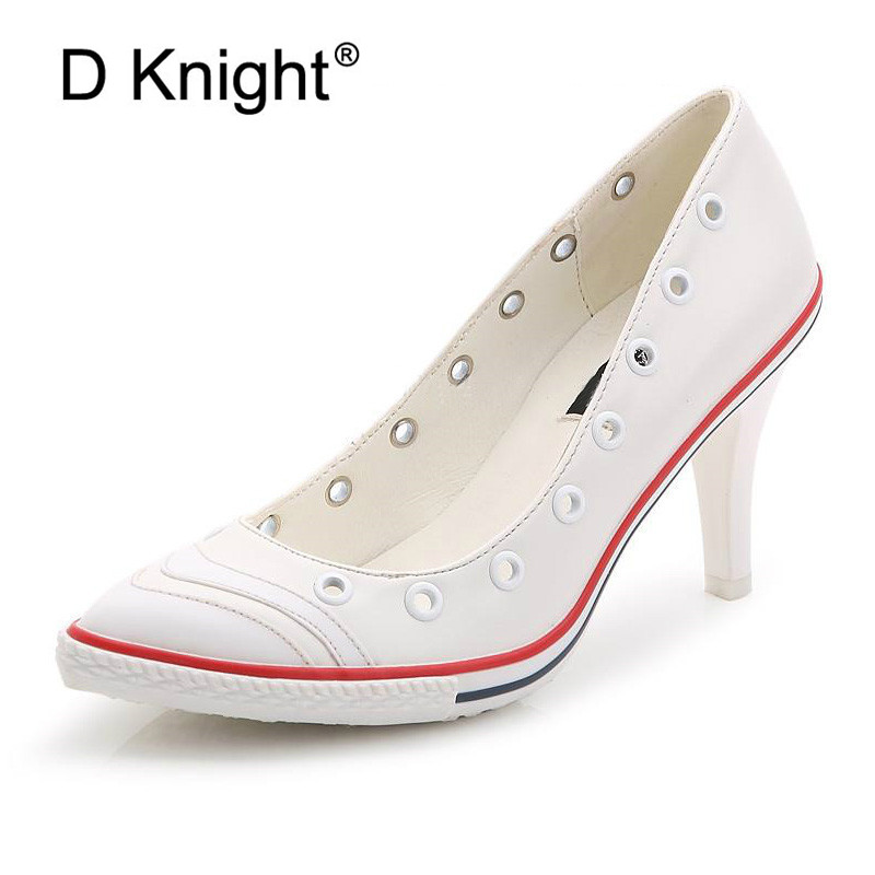 cdd5026fd1c0 Mixed Color Casual Heels Women Pumps Shoes Office Lady Pointed Toe Sexy  High Heels Wedding Party