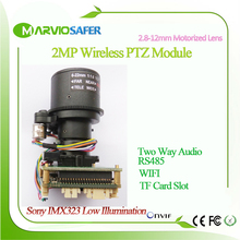 2MP 1080P FULL HD WIFI IP PTZ Wireless Network Camera Module Board Motorized auto-focal  2.7-13.5mm Zoom Lens TF Card Slot RS485
