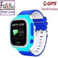 Fu & y Bill Q90 Posicionamiento GPS Reloj de Los Niños de 1.22 Pulgadas de Pantalla Táctil sos smart watch ubicación wi-fi pk q80 q750 q730 q50 q60 V7K