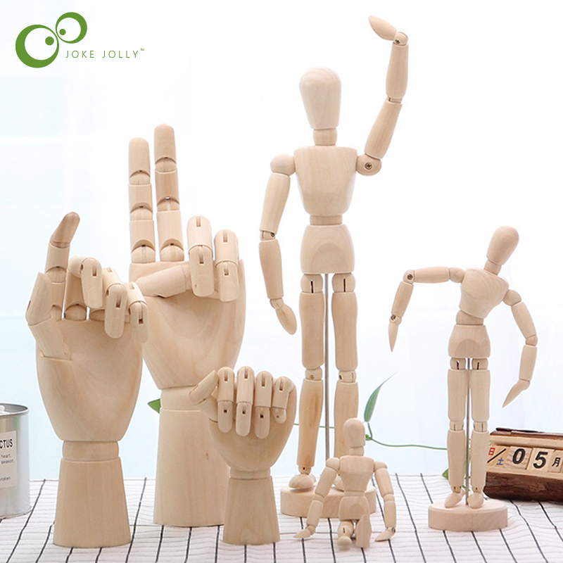 Toys Puppet Hand-Model Action-Figure Wooden Artist Comic Gifts GYH People Home-Decor