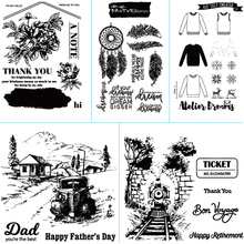 Country style theme design transparent silicone sealing strip / sealed DIY scrapbook album decoration card making clear seal