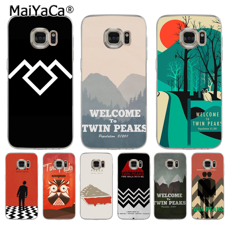MaiYaCa Welcome To Twin Peaks Coque Shell Phone Case for Samsung S9 Plus S5 S6 S7 Edge S8 Plus S6 Edge Plus