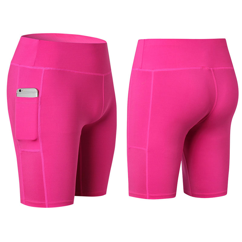 2018 Women Sexy Pocket Yoga Shorts Women Compression Gym Fitness Tights Running Legging Outdoor Sports Short Trousers Hot Sale