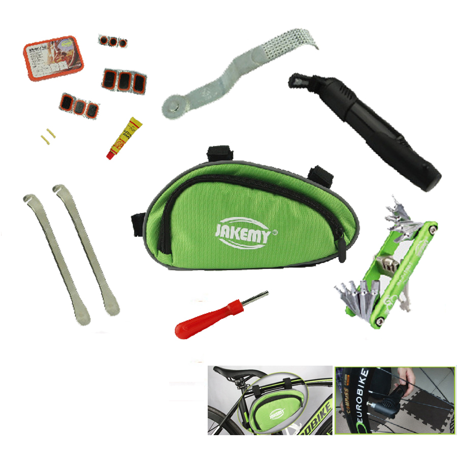 Complete multitool outdoor Bicycle Cycling Repair Tool kit set with screwdriver puch pump bag box repairing Bike free shipping 44pcs set mountain bike patchs maintenance repair box diagnostic tools kit valuables cycling chain case bicycle accessories