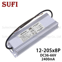 96W 120W 136W 160W LED Driver Waterproof Lighting Transformers Output 36 66V 2400mA IP67 Power Supply for 96 120 136160 W LED