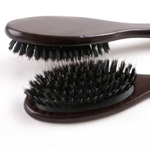 1piece boar bristle hair brush, dark brown brush for human extension