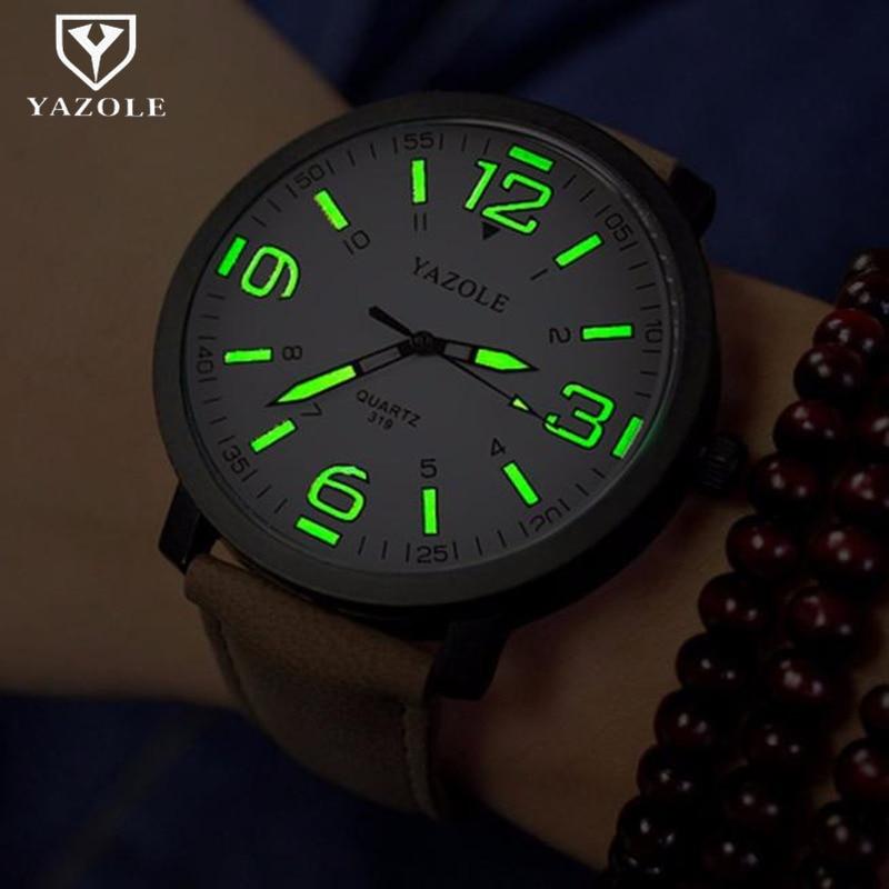Watch Men YAZOLE Brand Luxury Fashion Sports Watches Luminous Male Clock Quartz Watch Hour Montre Drop Ships relogio masculino diamond stylish watches for girls