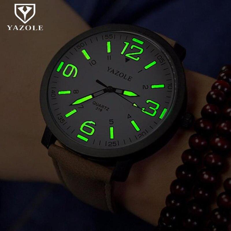 Montre hommes YAZOLE marque de luxe mode sport montres lumineux homme horloge Quartz Montre heure Montre Drop ship relogio masculino