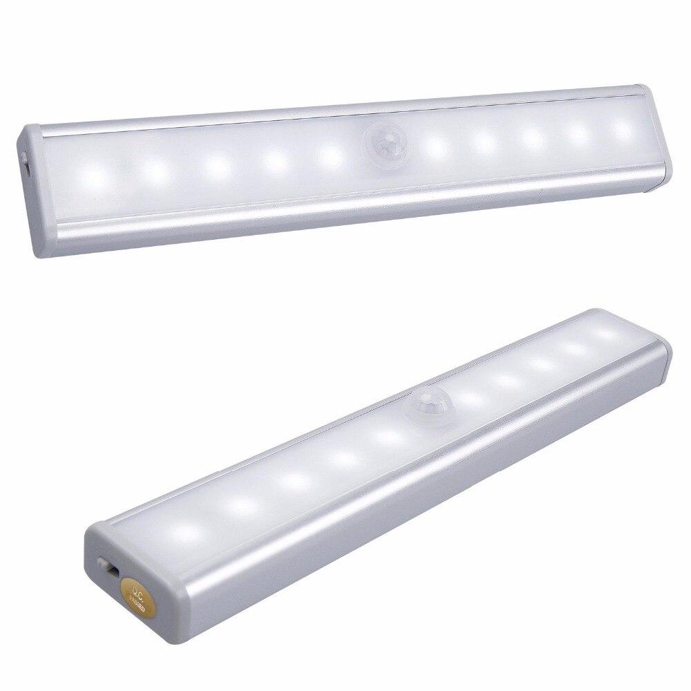 [Обновление] 10-LED Motion зондирования Scheinwerfer stick на любом месте Легкий шаг светодиодные панели с магнитной светодиодные полосы, ПИР Ночник ...