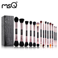 Makeup Brushes 14 Sets Fiber Eye Blender Brush Concealer Brush Lyineyes Eyebrow Brush Eyeliner Brush PU