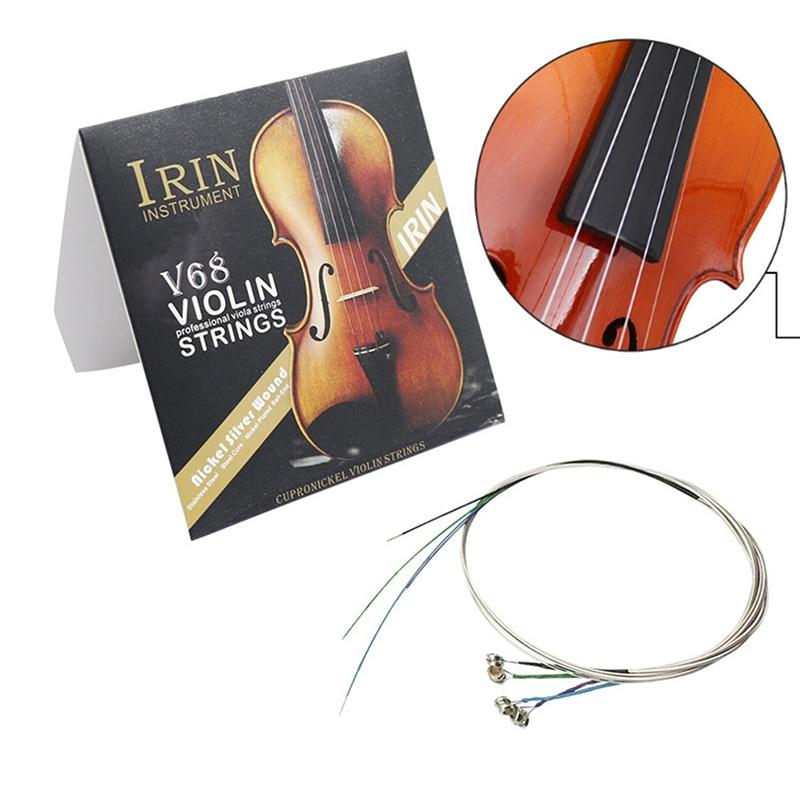 Nouveau 4 pièces/ensemble cordes de violon E-A-D-G fil dacier à haute teneur en carbone pièces dinstruments de musique ensemble de cordes de violon accessoires de violon