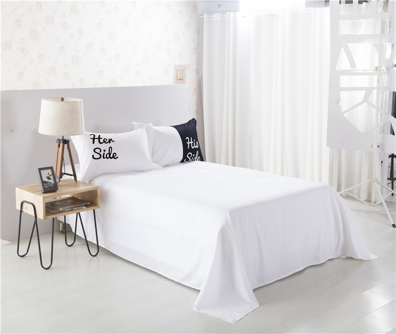 her side his side bedding sets queenking size double bed 3pcs4pcs bed linen couples duvet cover setin bedding sets from home u0026 garden on