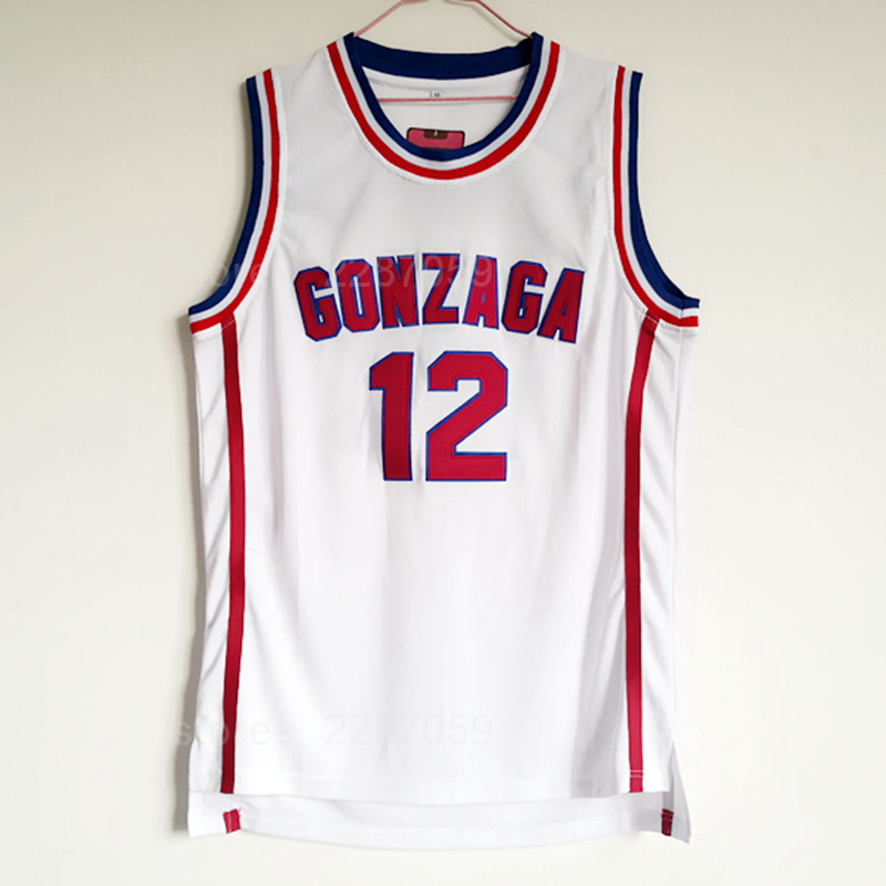 8dc417ec2b73 Ediwallen High School 12 John Stockton Jersey Men College Basketball  Gonzaga Bulldogs Jerseys All Stitched Team COlor White-in Basketball Jerseys  from ...