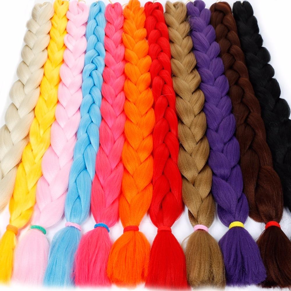 Braid Bulk 82inch 165g Jumbo Braids braiding hair Kanekalon Braiding Hair style Crochet Hair extensions JINKAILI WIG ...