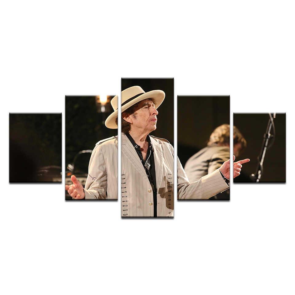 Hiện đại Âm Nhạc Pop Sao Bob Dylan Chân Dung Canvas HD In Áp Phích Tường Hình Ảnh Nhà Lớn Tường Vải Thả Vận Chuyển