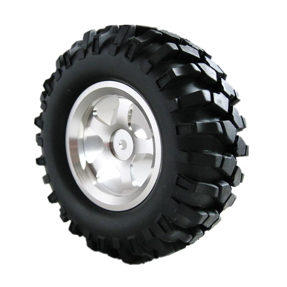 4Pcs lot 108mm 1 9 Rock Crawler Tires Alloy Wheel Rim Hex 12mm For 1 10
