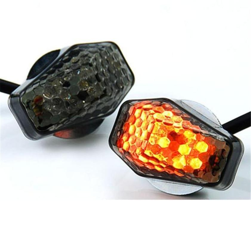 New 15 Amber LED Flush Mount Smoke Turn Signal Indicator Blinker Light Universal Motorcycle Signal Lamp Accessories rigid industries 93432 srq2 amber driving led light flush mount