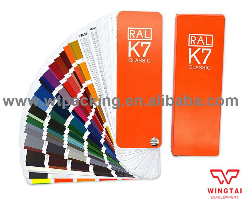 German RAL 213 kinds of colors Classic Colours Color chart K7 ral k7 paint color page chip card brochure
